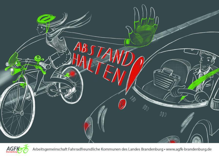 Plakatkampagne Verkehrssicherheit »Abstand halten«