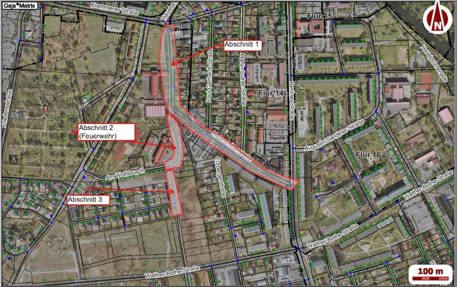 Julius-Leber-Straße & Melanchthonstraße, Plan Deckschichterneuerung