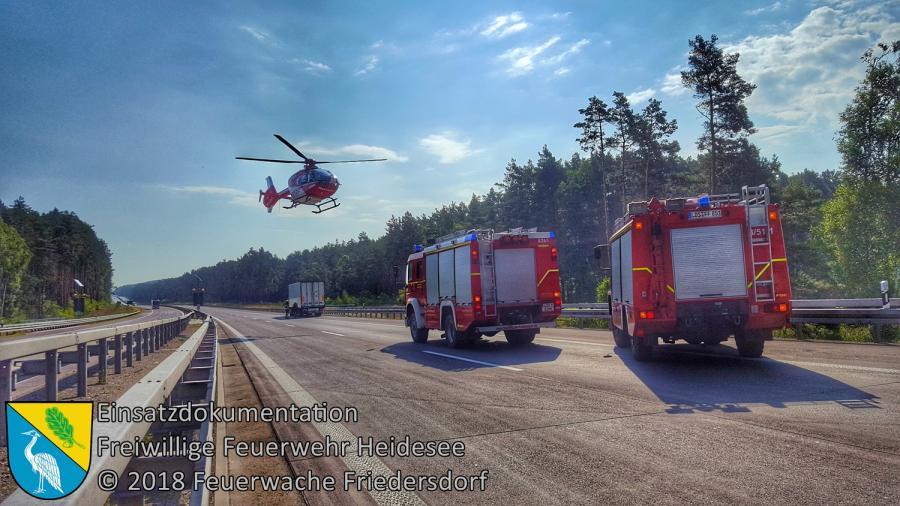 Einsatz 87/2018 | VU PKW auf LKW | BAB 12 AS Storkow - AS Fürstenwalde/West | 24.07.2018