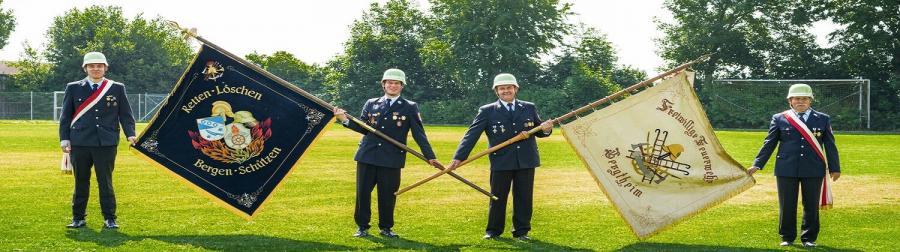 Feuerwehr Bergtheim Fahne
