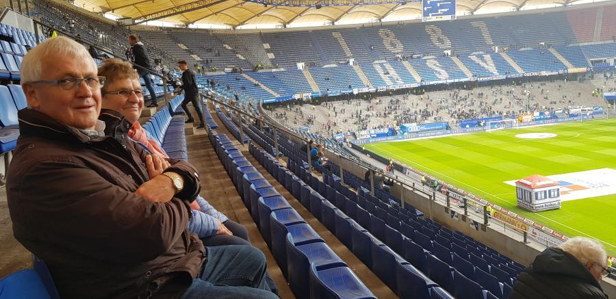 HSV Besuch gegen VfL Bochum - Günter Strube und seine Frau Renate
