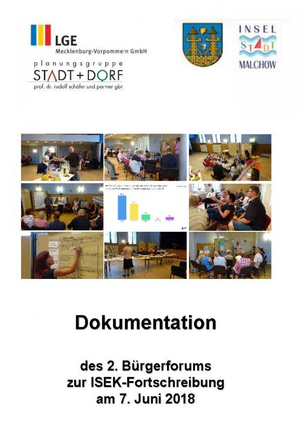 ISEK 2. Bürgerforum Dokumentation Deckblatt