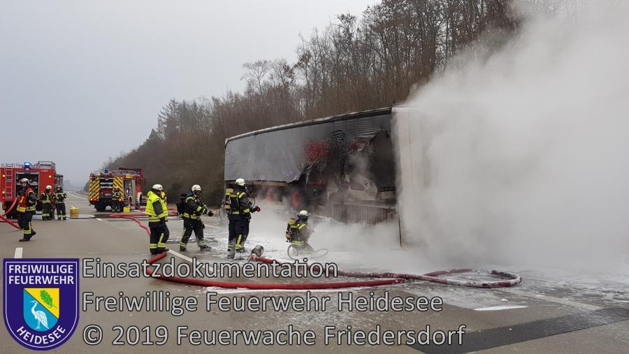 Einsatz 6/2019 | Brennender LKW Auflieger | BAB 10 AD Spreeau - AS Niederlehme | 23.01.2019