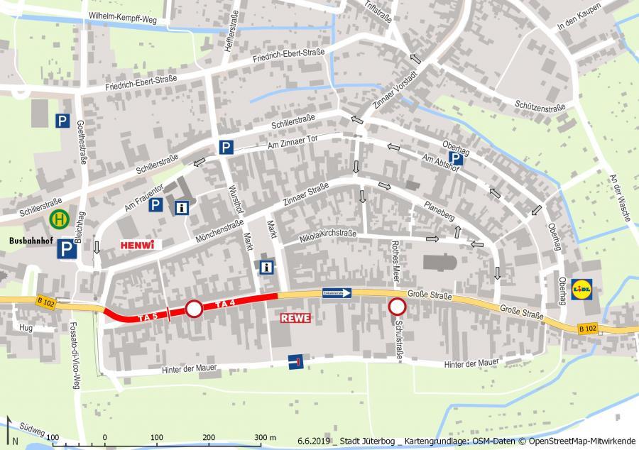 B102 Innenstadtkarte 06.06.2019