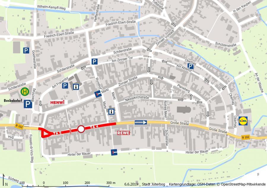 B102 Innenstadtkarte ab 17.06.2019