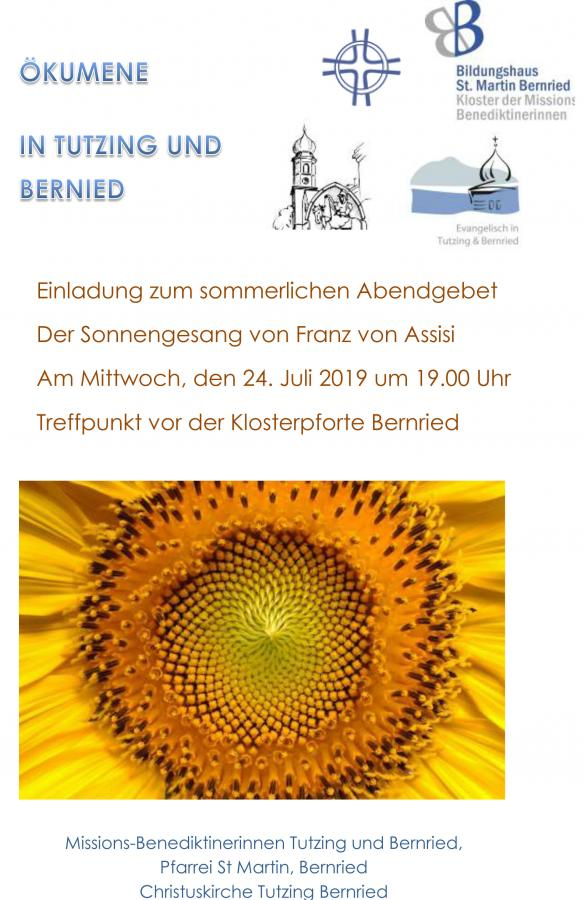 2019-07-24 - Plakat sommerliches Abendgebet Bernried