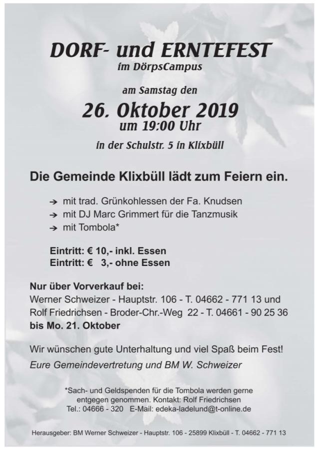Dorf- und Erntefest 2019