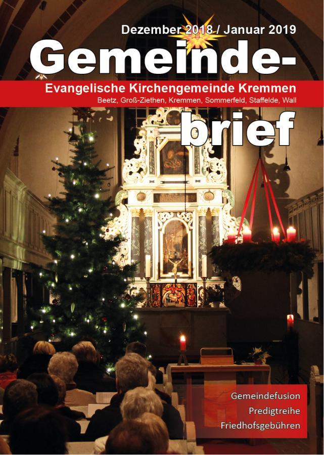 Gemeindebrief Dezember 2018 / Januar 2019