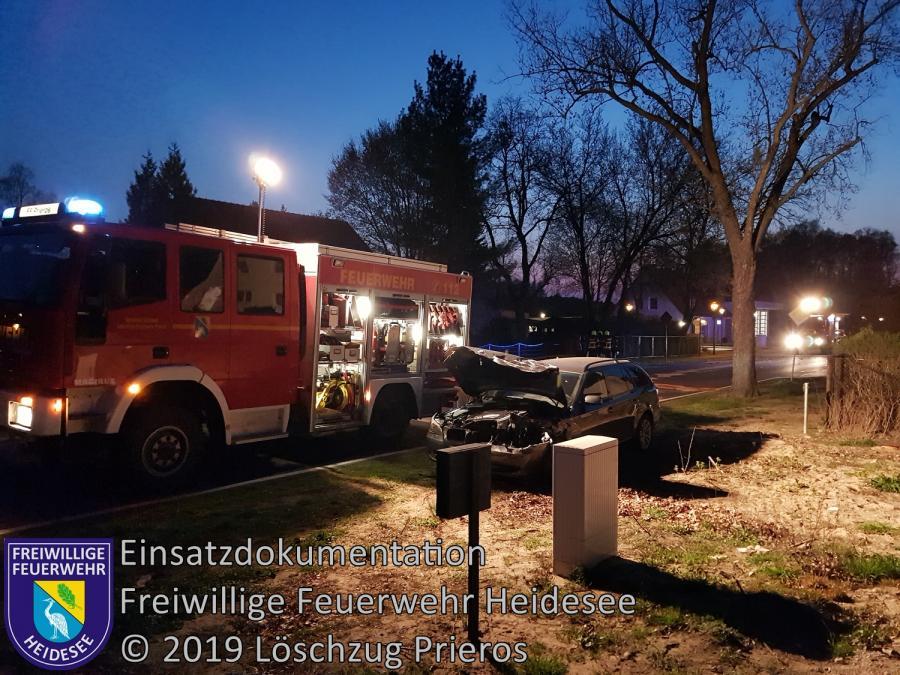 Einsatz 31/2019 | VU 2x PKW | Prieros Storkower Allee | 07.04.2019