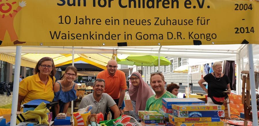 Ingrid und das fleißige Helferteam von der Freiwilligenagentur - Danke!
