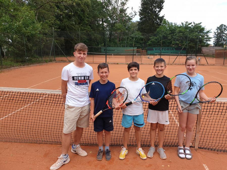U12 Team und Trainer Martin
