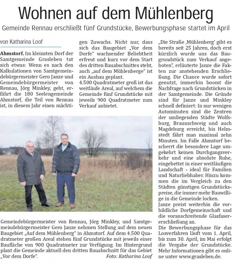 Bericht aus dem Helmstedter Sonntag vom 17.03.2019 (Autorin: Katharina Loof)