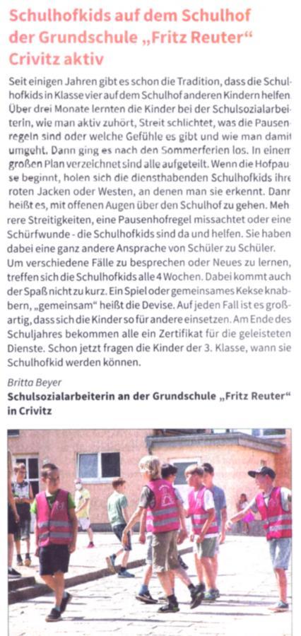 Zeitungsartikel Amtsbote 09/2019
