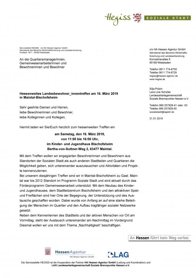 Einladung Landesbewohnertreffen - Seite 1