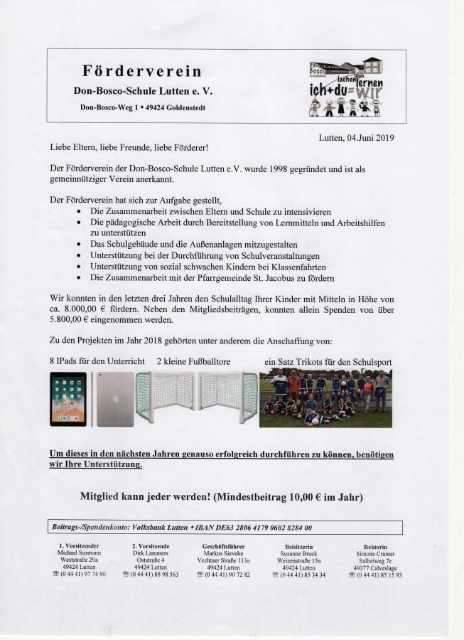 Projekte Förderverein und Infos