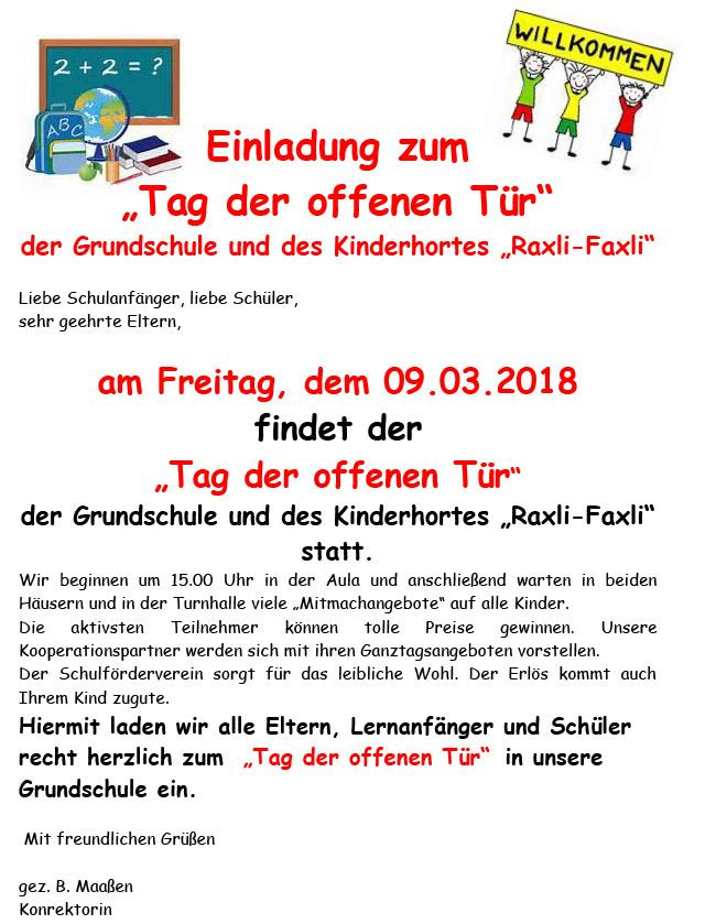 2018_Tag_offene_Tür_Grundschule_Hort