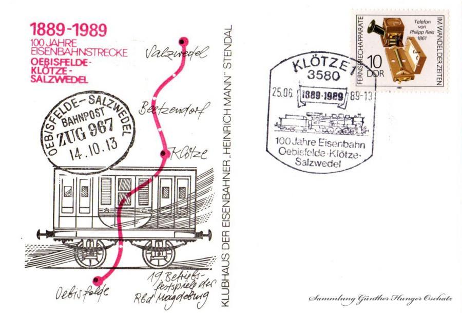 1889-1989 100 Jahre Eisenbahnstrecke