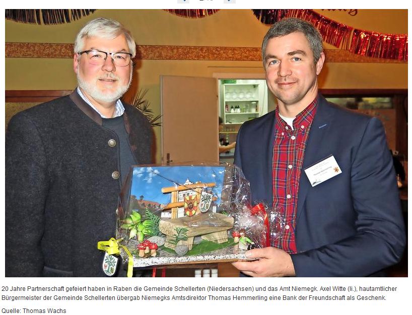 Feier: 20 Jahre Partnerschaft Schellerten-Niemegk am 17.02.2018 in Raben