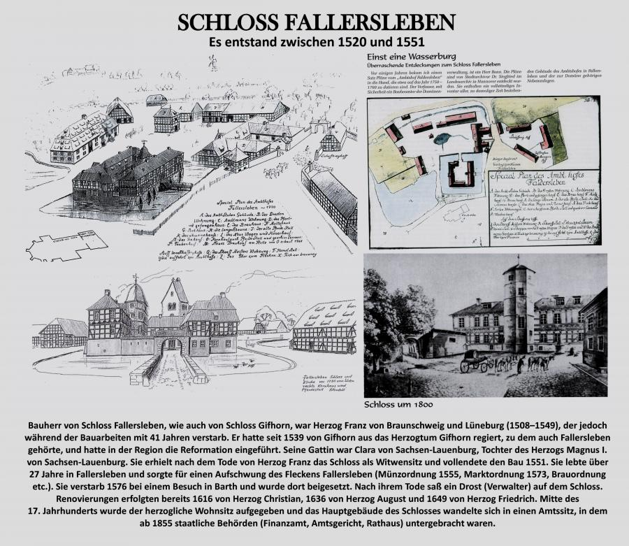 Zeichnung Schloss Fallersleben