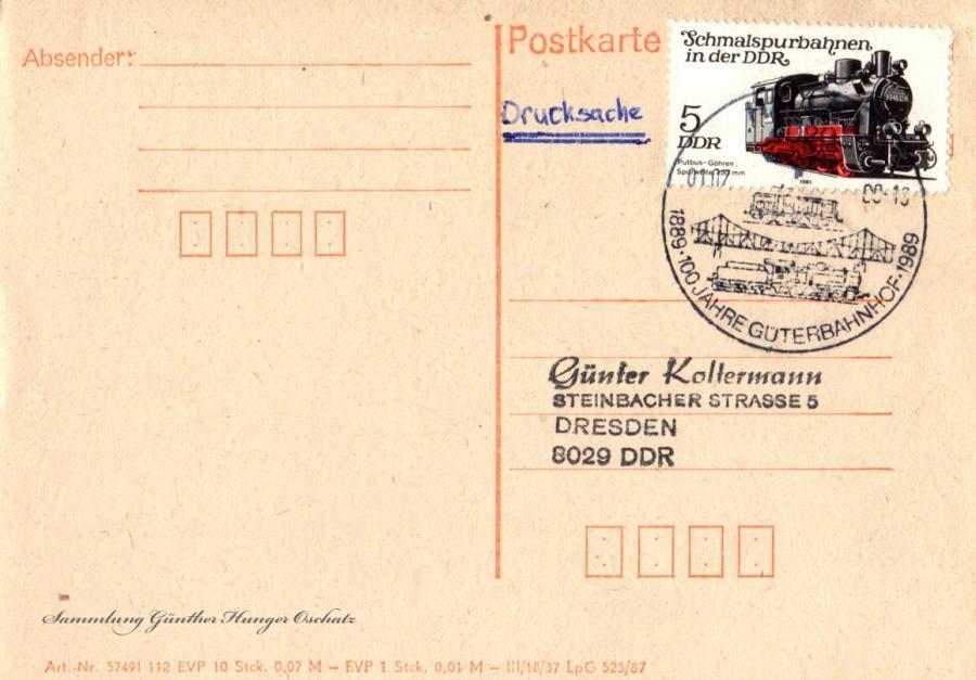 Postkarte 1.7.88