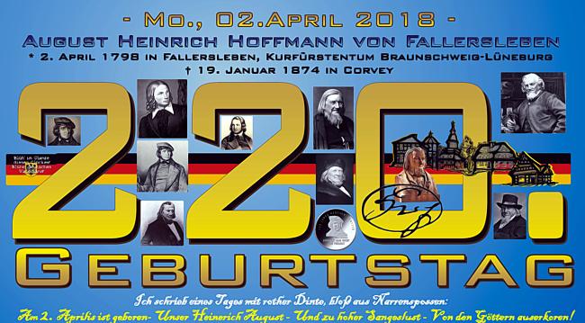 220.Geburtstag Hoffmann von Fallersleben