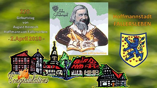Video zu Hoffmann von Fallerslebens 220.Geburtstag