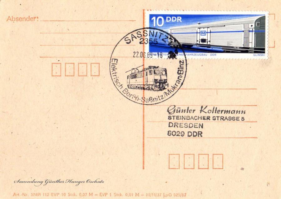 Postkarte 22.06.89