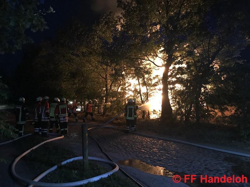FW2 - Feuer Wald/Moor/Heide mittel, Im  Dorf