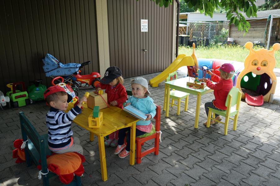 Kindertagsfeier bei den Kleinsten