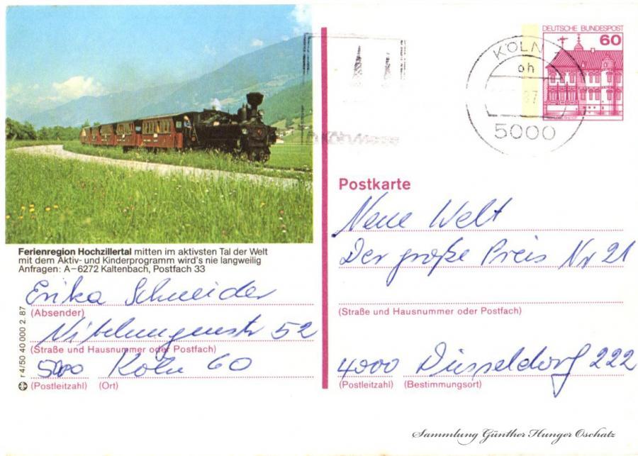 Postkarte  Ferienregion Hochzillertal