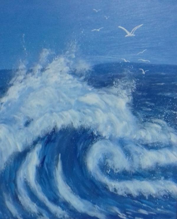 Große Welle2018 Öl/Acryl auf Leinwand   80 x 100 cm