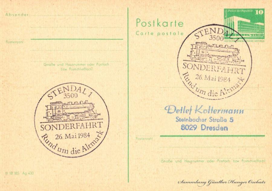 Postkarte Carte postale  26.Mai 1984