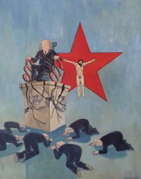 o.T.1983 Öl auf Hartfaser70 x 98 cm
