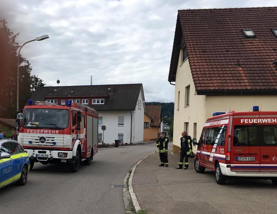 Florian Murg 1/44 ( LF 16 ) an der Einsatzstelle
