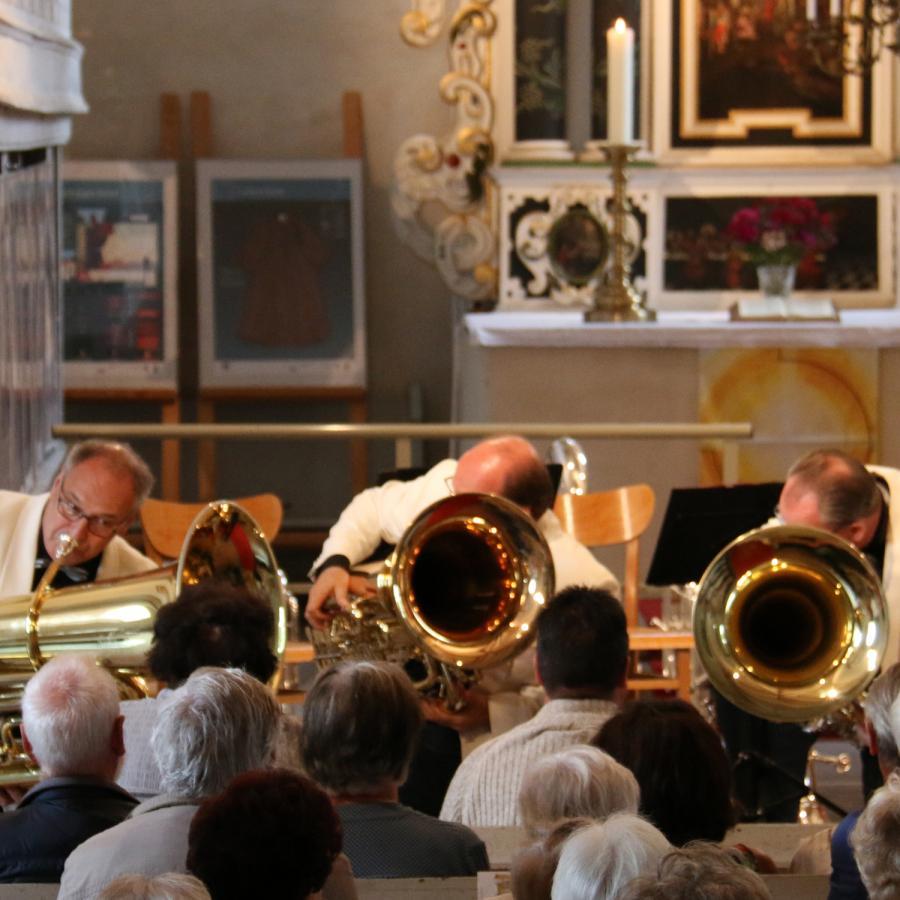 Das Melton-Tuba-Quartett am 11. Juni in Kremmen