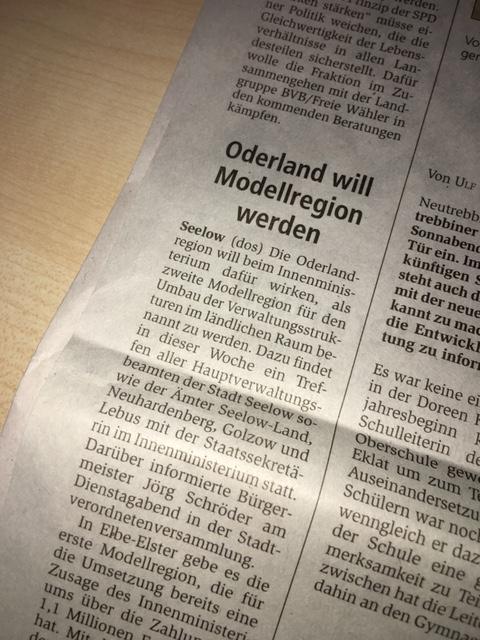 MOZ - Oderland will Modellregion werden