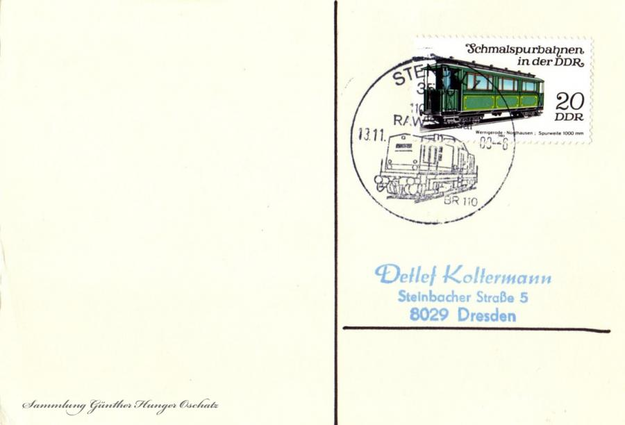 Postkarte  13.11.88