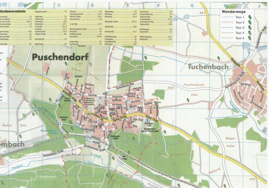 Ortsplan Puschendorf