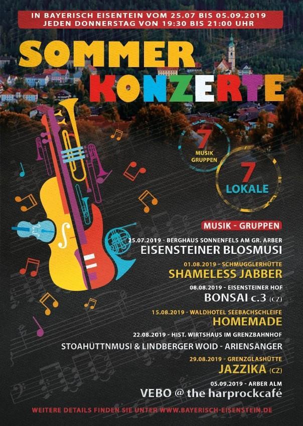 Plakat Sommerkonzerte 2019
