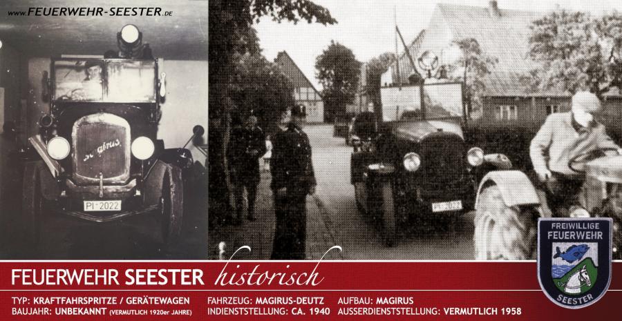 Kraftfahrspritze Magirus um 1940
