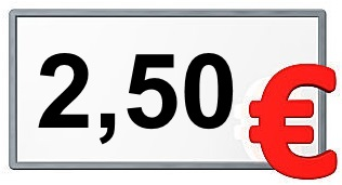 2,50 €