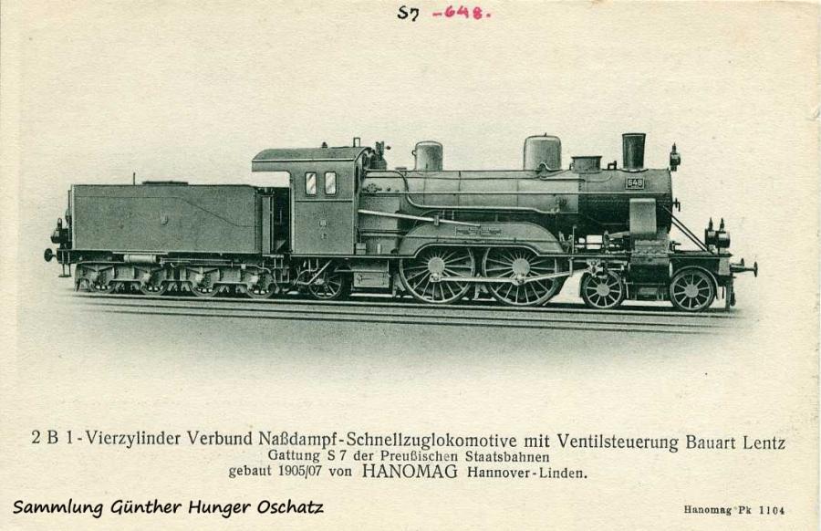 2 B 1-Vierzylinder Verbund Naßdampf-Schnellzuglokmotive