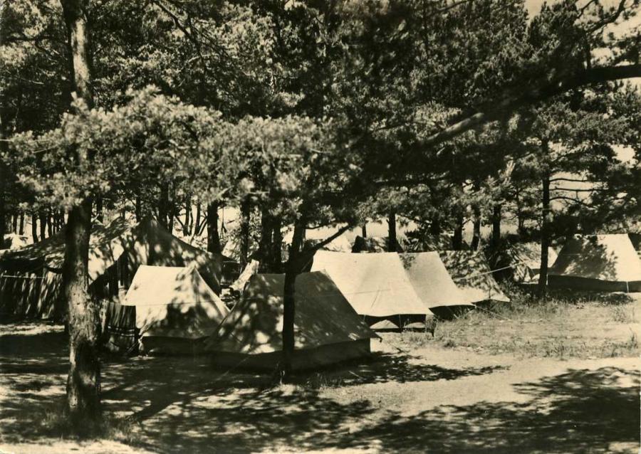 2 Glowe Zeltplatz 1964