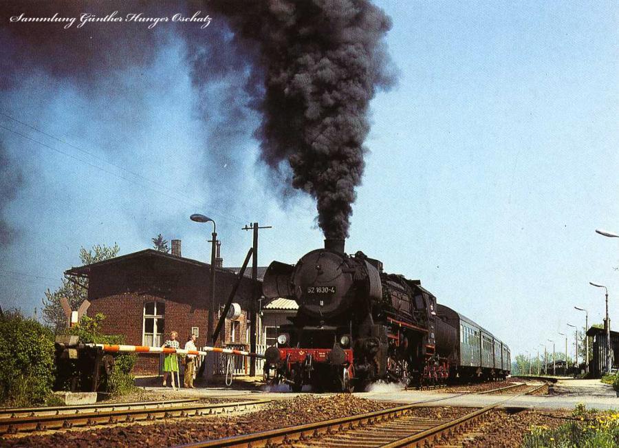 Güterzugdampflokomotive 52 1630 in Gersdorf