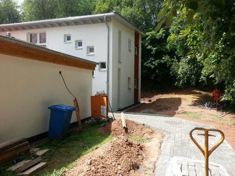 Pflasterarbeiten vor Neubau