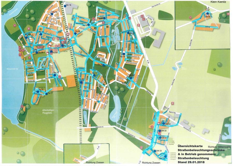 © Gemeinde Rangsdorf - Karte Stand 29.01.2018