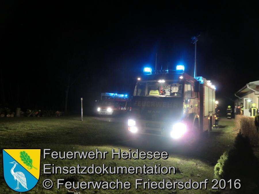 Einsatz 7/2016 | Schuppenbrand | Wolzig Friedersdorfer Straße 31.01.2016