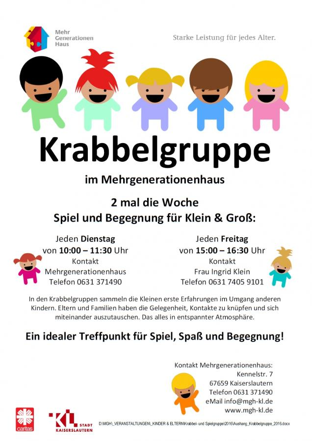 Krabbelgruppe im Mehrgenerationenhaus Kaiserslautern