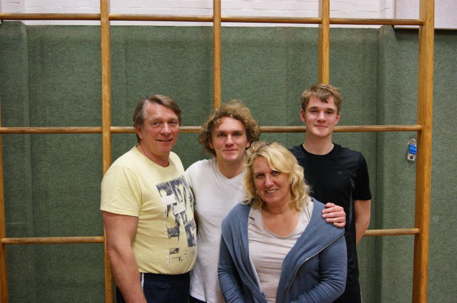 Olaf, Stephen, Anja, Nick