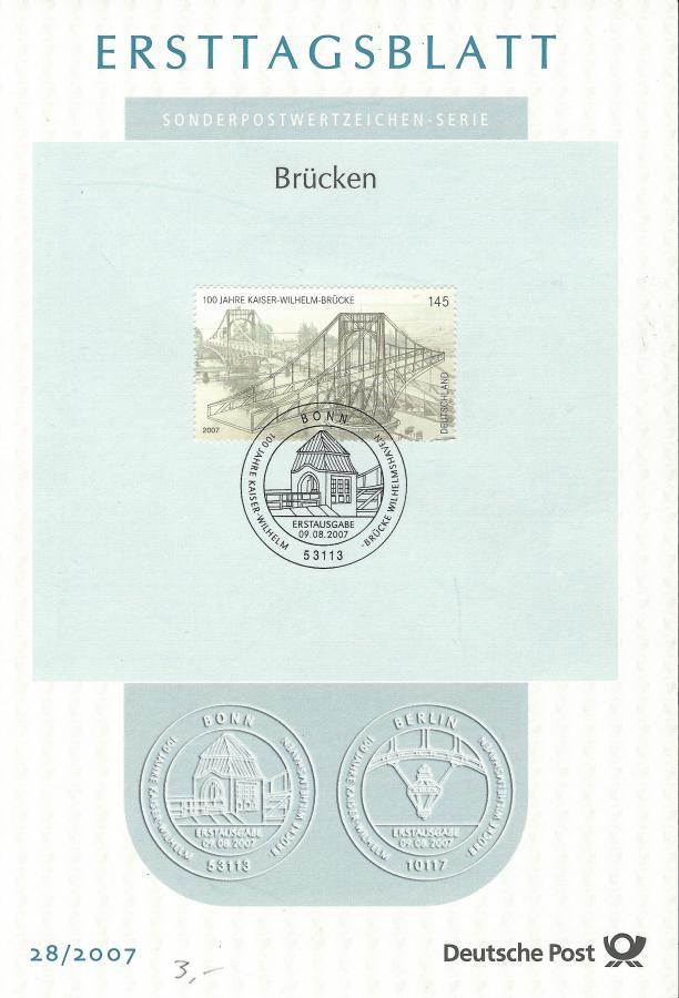4521-Ersttagsblatt Brücken